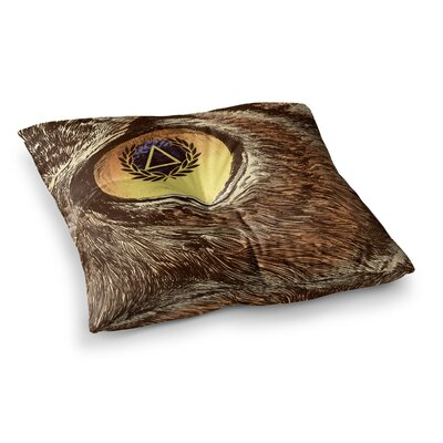 BarmalisiRTB Sharp Eye Square Floor Pillow Size: 23 x 23