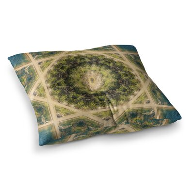 Nick Nareshni Forest Mandala Geometric Square Floor Pillow Size: 23 x 23