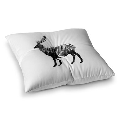 BarmalisiRTB The Deer Square Floor Pillow Size: 23 x 23