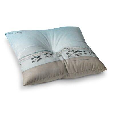 Sylvia Cook Sea Coastal Square Floor Pillow Size: 26 x 26