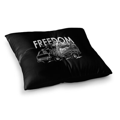 BarmalisiRTB Freedom Digital Square Floor Pillow Size: 26 x 26