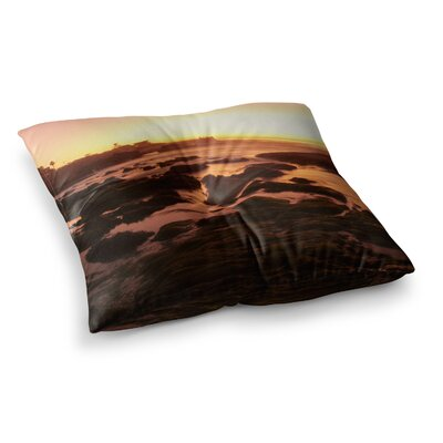 Nick Nareshni Rocks of La Jolla Sunset Square Floor Pillow Size: 23 x 23