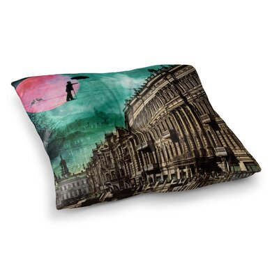 Suzanne Carter Moonlight Stroll Surreal Square Floor Pillow Size: 23 x 23