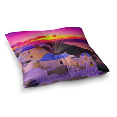 Oriana Cordero My Konos Sunset Square Floor Pillow Size: 23 x 23