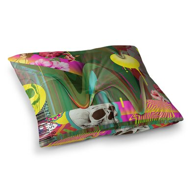 Roberlan Almost Everything Collage Abstract Vintage Square Floor Pillow Size: 26 x 26