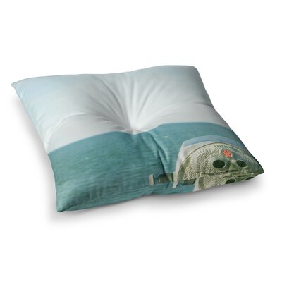 Robin Dickinson Ocean View Square Floor Pillow Size: 26 x 26