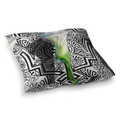 S. Seema Z Three Lily Square Floor Pillow Size: 23 x 23