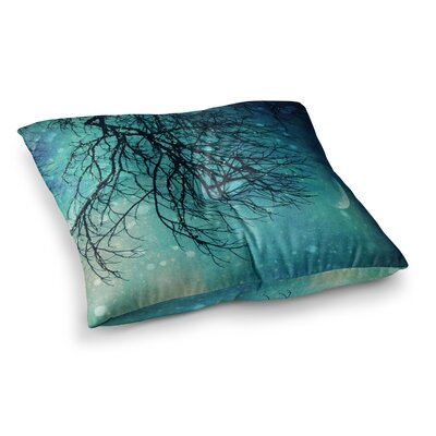 Sylvia Cook Winter Moon Square Floor Pillow Size: 26 x 26