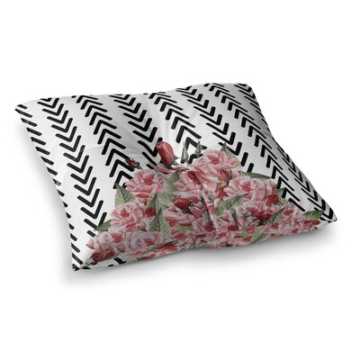 Tobe Fonseca Spring Pattern Arrow Illustration Square Floor Pillow Size: 23 x 23