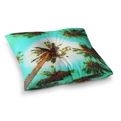 Oriana Cordero Paradise Trees Square Floor Pillow Size: 26 x 26