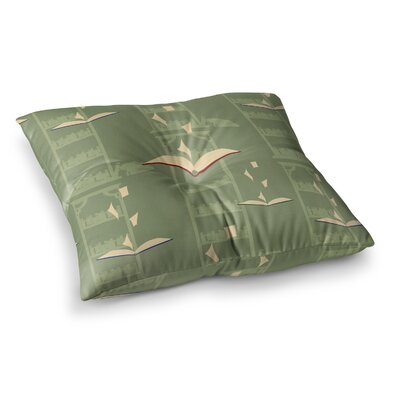 Stephanie Vaeth Library Digital Square Floor Pillow Size: 26 x 26