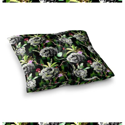 Victoria Krupp Twilight Peonies Digital Square Floor Pillow Size: 26 x 26