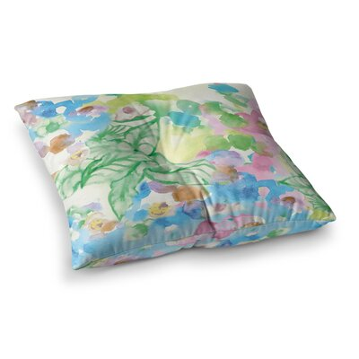 Sonal Nathwani Leaf Bouquet Square Floor Pillow Size: 26 x 26