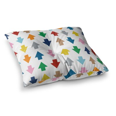 Project M Arrows Up and Down Square Floor Pillow Size: 23 x 23