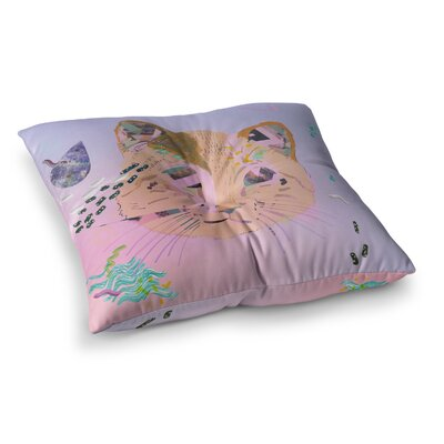 Vasare Nar Psychedelic Cat Square Floor Pillow Size: 26 x 26