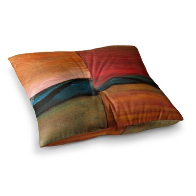Nathan Gibbs The Man Who Surfed The Ocean Maroon Painting Square Floor Pillow Size: 26 x 26