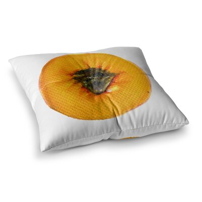 Theresa Giolzetti Peach Square Floor Pillow Size: 23 x 23