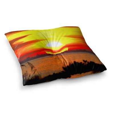 Philip Brown Sunrise on Sanibel Square Floor Pillow Size: 23 x 23
