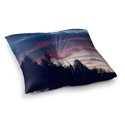 Robin Dickinson Go on Adventures Skyline Square Floor Pillow Size: 26 x 26