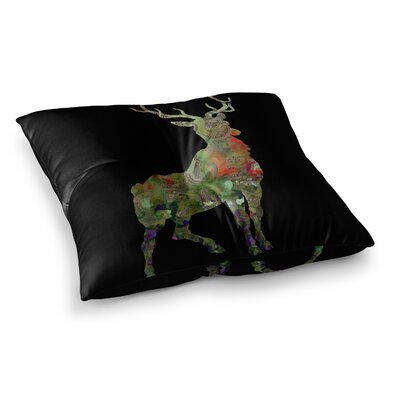 Suzanne Carter Paisley Deer Abstract Square Floor Pillow Size: 23 x 23