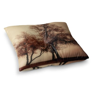 Sylvia Coomes Rust Trees Square Floor Pillow Size: 26 x 26
