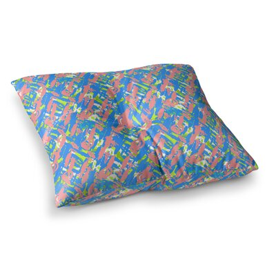 Nandita Singh Abstract Print Square Floor Pillow Size: 23 x 23, Color: Blue