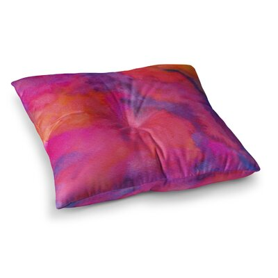 Viviana Gonzalez Improvisation 30 Magenta Square Floor Pillow Size: 26 x 26