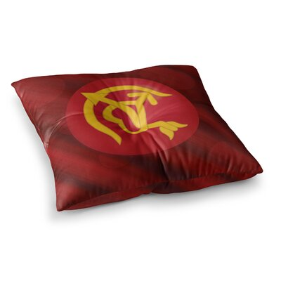 NL Designs Mars Marsala Square Floor Pillow Size: 23 x 23