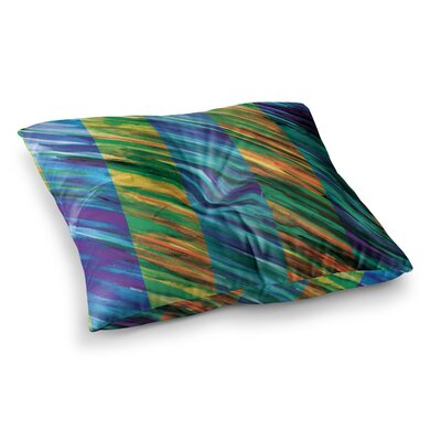 Theresa Giolzetti Set Stripes I Square Floor Pillow Size: 26 x 26, Color: Green
