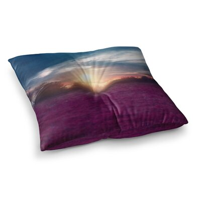 Viviana Gonzalez Sunset I C. Photography Square Floor Pillow Size: 26 x 26
