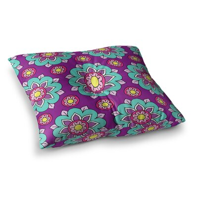 Sarah Oelerich Bright Blossoms Square Floor Pillow Size: 23 x 23