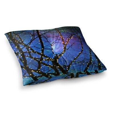 Sylvia Cook Holiday Lights Christmas Square Floor Pillow Size: 23 x 23