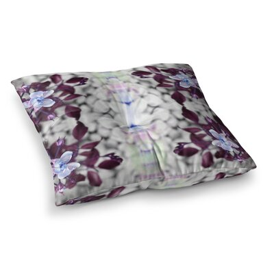 Pia Schneider Roses ll Square Floor Pillow Size: 26 x 26, Color: Purple