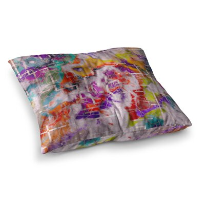 Michael Sussna Quantum Foam Geometric Square Floor Pillow Size: 26 x 26