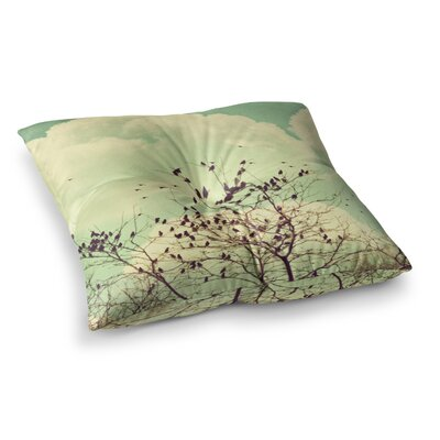 Sylvia Coomes Birds of a Feather Square Floor Pillow Size: 23 x 23