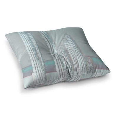 Suzanne Carter Cactus Digital Square Floor Pillow Size: 23 x 23, Color: Brown/Blue