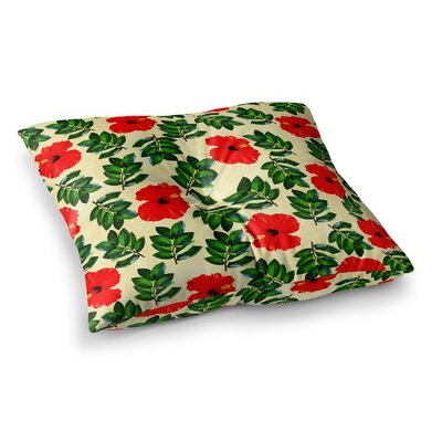 Sreetama Ray No More Peonies Square Floor Pillow Size: 26 x 26