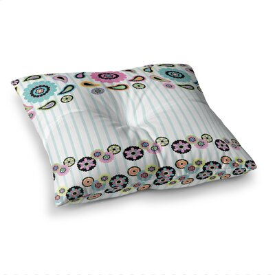 Nina May Paisley Party Flower Square Floor Pillow Size: 26 x 26