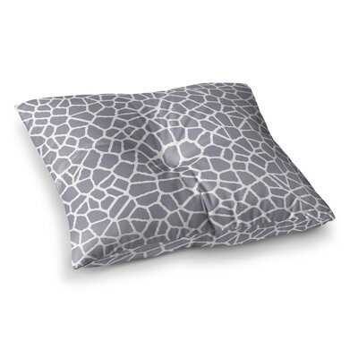 Trebam Staklo Square Floor Pillow Size: 23 x 23, Color: Gray