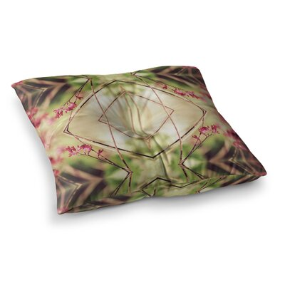 Pia Schneider Spangles No.10 Abstract Square Floor Pillow Size: 23 x 23, Color: Yellow