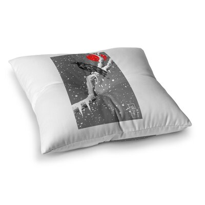 BarmalisiRTB Winter Japan Digital Square Floor Pillow Size: 23 x 23