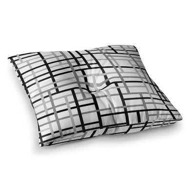 Trebam Veza V Lines Square Floor Pillow Size: 23 x 23