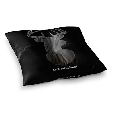 Suzanne Carter The Road2 Contemporary Square Floor Pillow Size: 26 x 26, Color: Black
