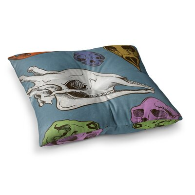 Sophy Tuttle Skulls Square Floor Pillow Size: 26 x 26