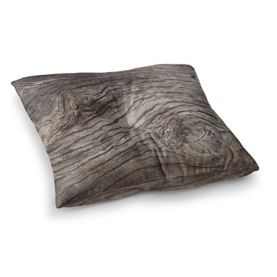 Susan Sanders Tree Bark Wooden Square Floor Pillow Size: 23 x 23