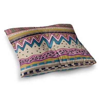 Zara Martina Mansen XoXo Pop Art Polka Dot Girl Square Floor Pillow Size: 26 x 26
