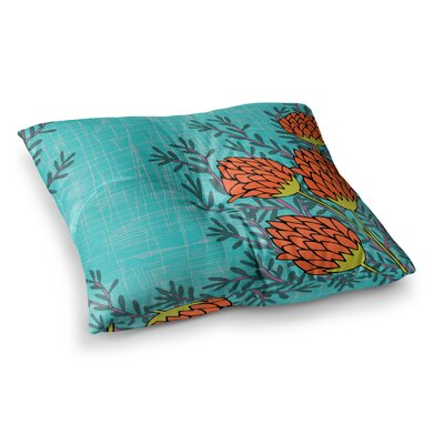 Nandita Singh Flowers Square Floor Pillow Size: 23 x 23