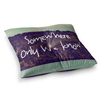 Rachel Burbee Somewhere Square Floor Pillow Size: 23 x 23