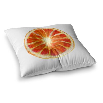 Theresa Giolzetti Grapefruit Square Floor Pillow Size: 26 x 26