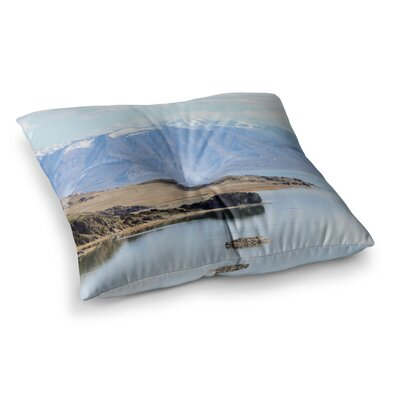 Sylvia Coomes Mountain Reflection Nature Square Floor Pillow Size: 26 x 26